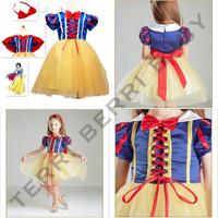 Kostum dress snow white anak cosplay snow white anak