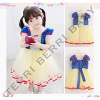 Kostum dress princess snow white anak gaun snow white dress anak - XXS
