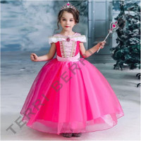 Baju kostum dress princess aurora dress hadiah ulang tahun anak