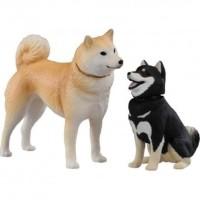 Miniatur Anjing Hachiko Tomica Ania Shiba Inu And Mame Shiba Inu AP 01