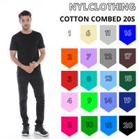 KAOS POLOS COTTON COMBED 20S - S-XXL | KATUN