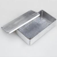 XFDZ Kotak Casing Aluminium Metal Stomp untuk Pedal Efek Gitar- Silver