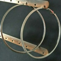 Anting Fashion Ring Bulat Polos 6cm