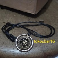 kalung bandul kompas/ aksesoris kalung cowo/ kalung pria
