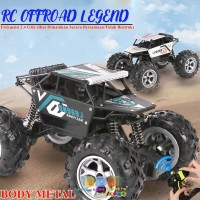 (BODY METAL + REMOT PISTOL + BAN BESAR) RKJ Mainan Mobil Remot Offroad