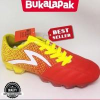 Ready Stock Sepatu bola specs original Equinox FG Emperor red yellow