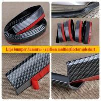 Lip Bumper Side Skirt Samurai Lis Spoiler Bamper Mobil Karbon
