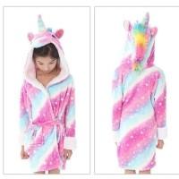 bathrobe baju mandi kimono handuk renang unicorn impor anak perempuan