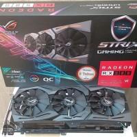 Promo Vga Card Pci-E Asus Ati Radeon Rx 580 Strix Oc Edition 8Gb Gddr5