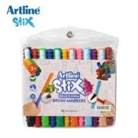 Artline Stix Brush Marker Set isi 12 Warna/Coloring Brush Pen Murah