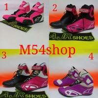 Sepatu Drag -touring alpinestar k-pro hitam pink