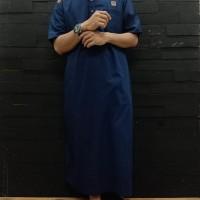 Jubah Pria Lengan Pendek Al Amwa - Gamis Pria Lengan Pendek List Bahu