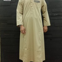 Busana Muslim Pria Dewasa Jubah Al Amwa Lengan Panjang Kombinasi Saku