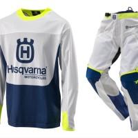 Husqvarna Baju dan celana balap motocross trail adventure trial tra