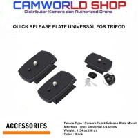 QUICK RELEASE PLATE UNIVERSAL FOR TRIPOD