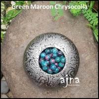 10mm Green Maroon Chrysocolla