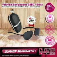 Veithdia Kacamata Aviator Polarized Sunglasses - Hitam