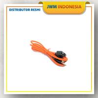 Kabel charger data usb magnetic JWM V5/V8 kabel pogo - Hitam