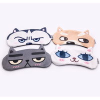Premium Korea Sleepmask Gel Penutup mata tidur Sleep Eye Mask Travel - Shiba Inu