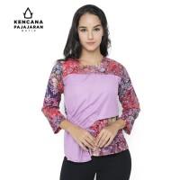Della Blouse Batik kombinasi Wanita Lengan Panjang Kencana Pajajaran - S