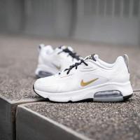 Sepatu NIKE AIR MAX 200 WHITE/METALLIC GOLD-BLACK Putih Emas Premium