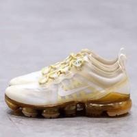 Sepatu Nike Air Vapormax 2019  white gold Putih Emas Premium ori