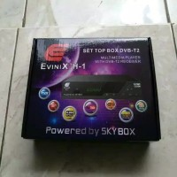 EVINIX H1 RECIVER DECODER SET BOX BOSTER ANTENA TV Digital FREE KABEL