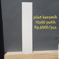 plint keramik 10x50 putih