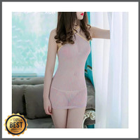 lucky Lingerie Baju Mini Dress Transparan Ketat Seksi 1912