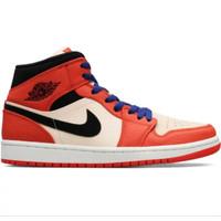 Sepatu basket Nike air jordan 1 mid se team orange art 852542 800 ori