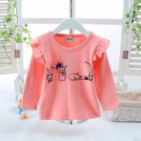 Limited Kaos T-Shirt Anak Perempuan Lengan Panjang Gambar Kucing