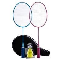 Perfly Badminton BR100 Racket Set Kid Blue Pink Decathlon - 2694058