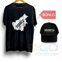 Kaos Topi Baju Obral Combed 30s Distro Borneo Kalimantan Indonesia