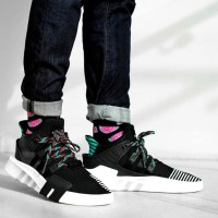 Sepatu Adidas Eqt Bask Adv Black White Sub Green Premium Original