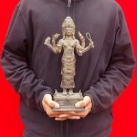 Patung Dewa Brahma Trimurti Kuningan Besar