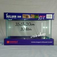 iglass 310 kandila aquarium kaca bending 10 liter Size 31x17x20cm