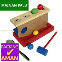 Mainan Palu Bola Luncur Kayu / Hammer Ball Edukasi Edukatif Anak Aika