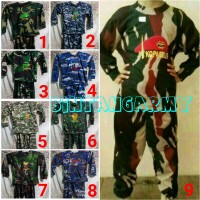 Promo... Baju Training Anak Loreng Army