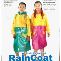 Baju Jas Hujan Anak Ponco Perempuan Laki Laki Sekolah SD Premium