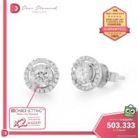 Diamond Earrings 'Usagi' White Gold- Anting Emas Berlian