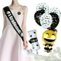 Paket Dekorasi Hiasan Balon Graduation / Sarjana / Wisuda / Kelulusan