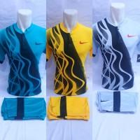 Baju Olahraga Jersey Setelan Gelombang Sepakbola Futsal Voly Badminton - Biru Muda, M