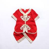 Cantik Anak laki-laki Gaya Cina Shirts Set Sleeveless Shirt + Shorts