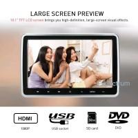 TV Headrest 10.1 inchi Clip On - DVD Player. USB. MMC. HDMI. AV. To