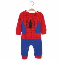 romper spiderman dengan hoodie for baby boy
