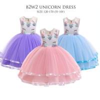 Gaun Pesta Anak Perempuan/ Dress Tutu Unicorn/ Baju Ultah Party Import