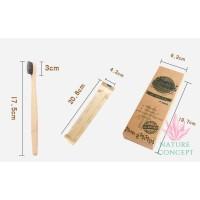 Bamboo Toothbrush Sikat Gigi Bambu Ekonomis - Harga per 1 box isi 4 pc