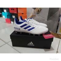 Sepatu Bola Adidas Predator 19.4 FG White Blue Original