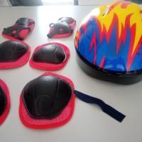 Helm Sepeda Anak + Dekker set/Helm+Dekker anak/kids helm