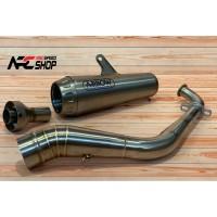Knalpot Arrow Pro Race Yamaha Aerox 155 Titanium Fullsystem Italy